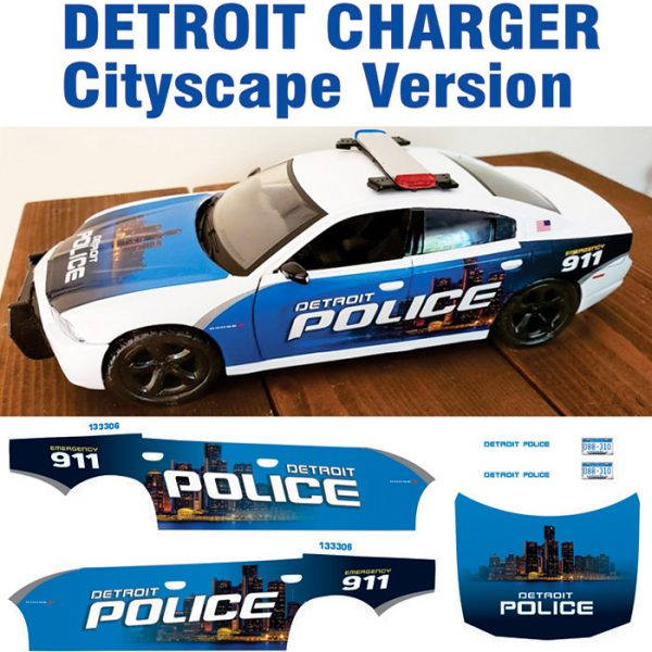 Detroit Police Charger Cityscape