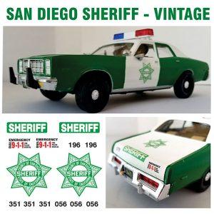 San Diego Sheriff, California – Vintage