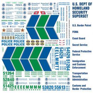 U.S. Dept of Homeland Security SuperSet (Multiple Vehicles)