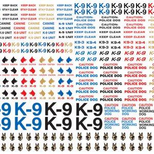 K-9 ( Canine ) Markings Add-on Set