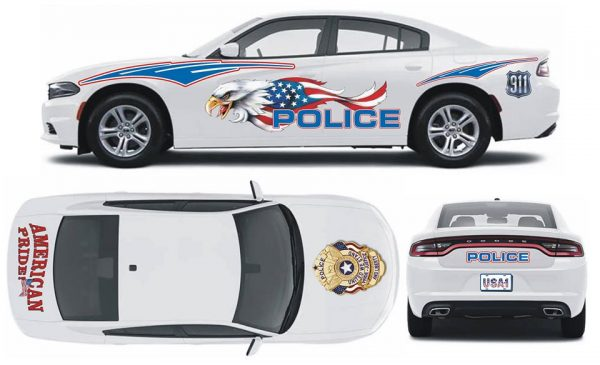 American Pride Police Charger