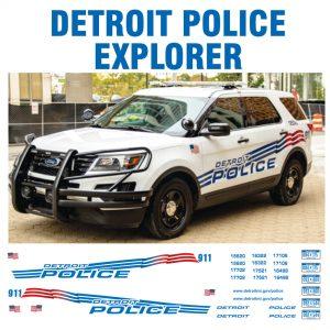 Detroit Police, Michigan Explorer – Flag Version