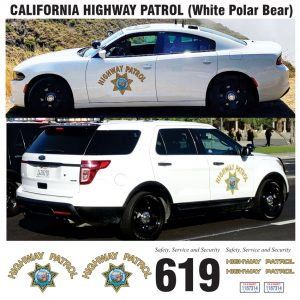 California Highway Patrol (CHP) Polar Bear White, CA