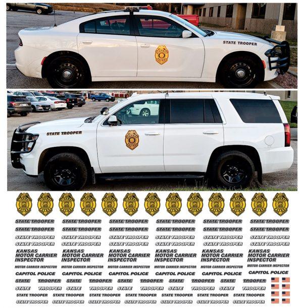 Kansas State Highway Patrol - Multiple vehicles